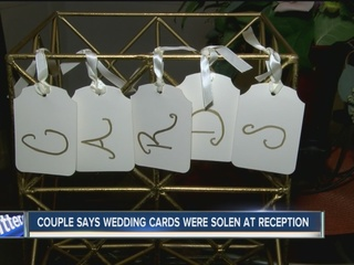 Second couple says cards missing after wedding