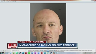 Disabled elderly man robbed by neighbor