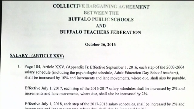 Buffalo School Board Union Approve New Contract  WkbwCom Buffalo Ny