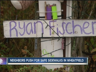 Some Wheatfield residents pushing for sidewalk