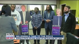 Millennials take to the polls on Election Day