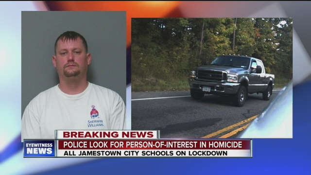 jamestown police search for shooting suspect