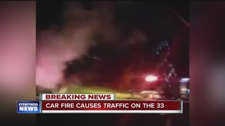 Car fire on Route 33