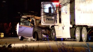 Tractor trailer driver in crash arrested for DWI