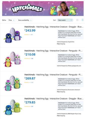 $230 for Hatchimals on Walmart.com? It's not Walmart ...