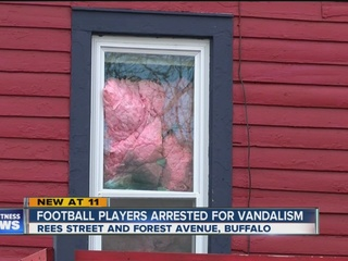 Three Buffalo State football players arrested