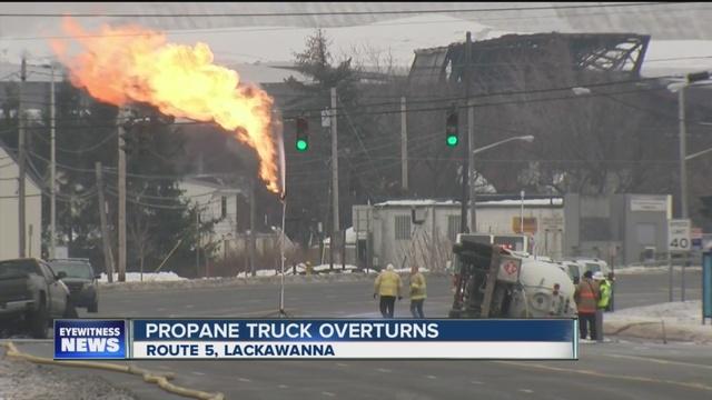 propane tank involved in lackawanna crash