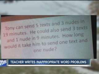 Parents upset over language in math problems