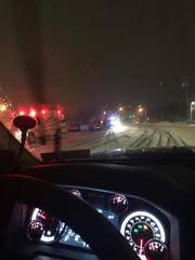 Driver arrested for DWI in weather-related crash