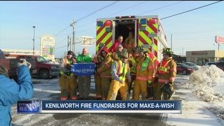 Firefighters collect thousands for Make-a-Wish