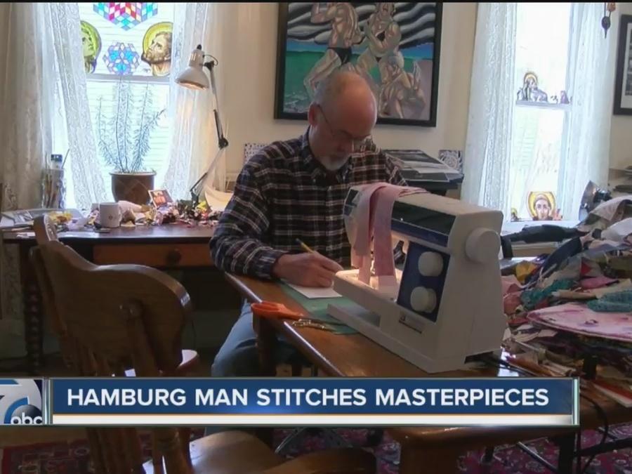 hamburg man sews quilt masterpieces