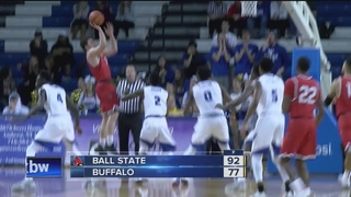 Ball State roars past UB 92-77