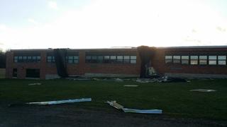 Wind rips roof off Cassadaga school