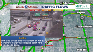 Rollover accident on the inbound 33 at the 198