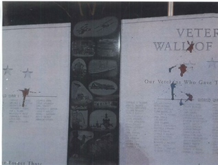 Veterans memorial vandalized