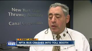 NFTA bus crashes into Grand Island toll barrier