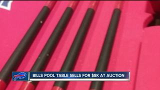 Bills pool table fetches $8K at auction