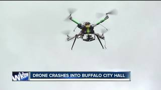 Drone crashes into Buffalo City Hall