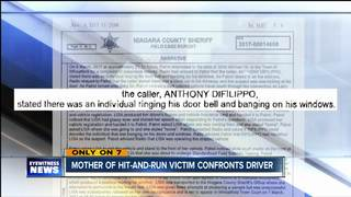 Mother of hit-and-run victim confronts driver