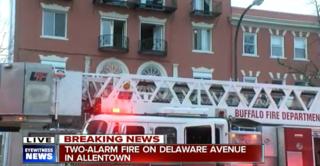 Two-alarm fire in Buffalo