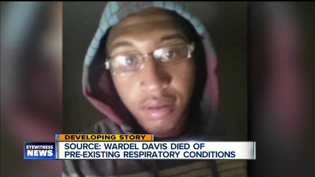 Source- Wardel Davis died of pre-existing respiratory conditions