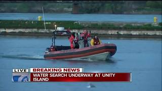 Police and Coast Guard search at Unity Island