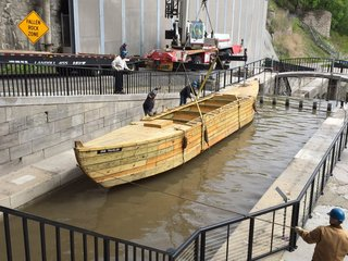 Historic canal vessel arrives in Lockport