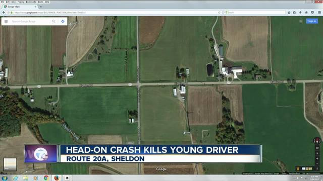 one person dead in the town of sheldon after head on crash