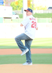 Sean McDermott throws out first pitch