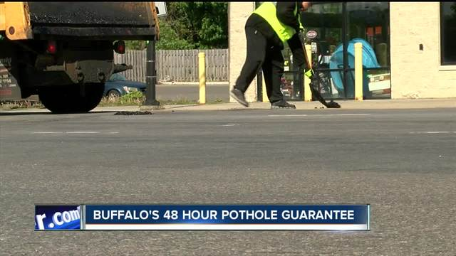 buffalo city officials guarantee pothole complaints made to 311 will be repaired in 48 hours