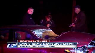Lancaster teen crashes coming home from school