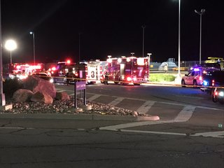 One killed, four hurt in crash at airport