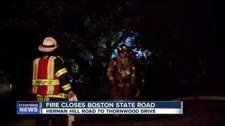 Boston State Road back open after overnight fire