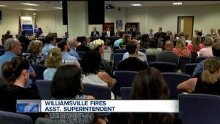 Williamsville schools fires administrator