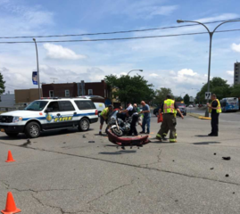 Motorcycle accident seriously injures biker