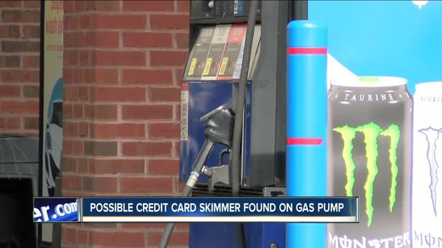 possible credit card skimmer found on buffalo gas pump