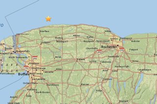 Small earthquake hits off Niagara County