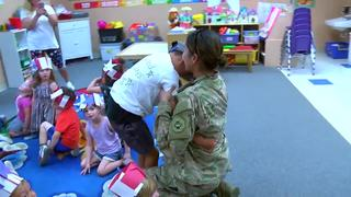 Mom returns from Afghanistan to surprise sons