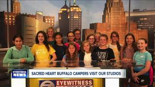 Sacred Heart Academy campers stop by WKBW