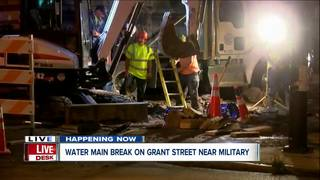 Crews find 10-inch water main break in Buffalo