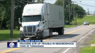 Neighbors fed up with semis on residential road