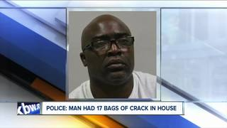 Police find 17 bags of crack in parolee's home