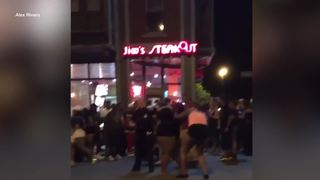 Street fight in Allentown caught on camera