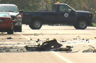 Woman critically injured in Newfane crash
