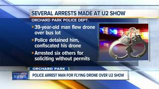 Drone arrest made at U2 concert in Orchard Park