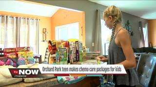 Teen creates care packages for kids with cancer