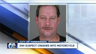Man crashes into motorcycle, charged with DWI