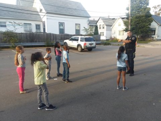 Deputy delivers smiles with a game of Simon Says