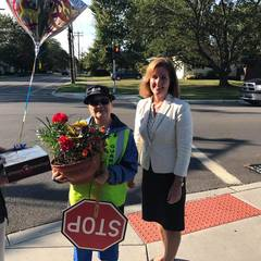 Crossing Guard honored for 49 years of service