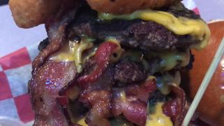 Rock Burger is the home of the stuffed burger!